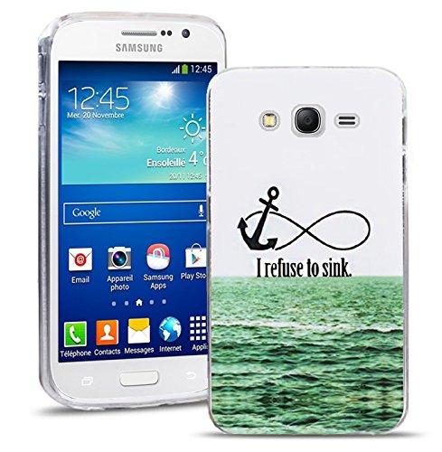 Samsung Galaxy Grand Neo / Grand Neo Plus Handy Tasche, FoneExpert Ultra dünn TPU Gel Hülle Silikon Case Cover Hüllen Schutzhülle für Samsung Galaxy Grand Neo / Grand Neo Plus + Displayschutzfolie (I refuse to sink)