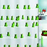 Spirella 10.10643 Duschvorhang Quack Green, textil B x H: 180 cm x 200 cm