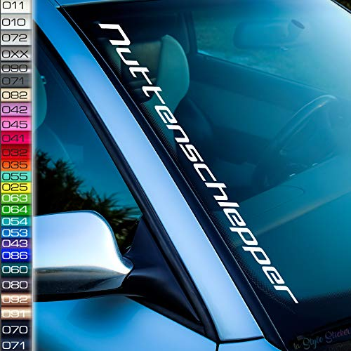 Nuttenschlepper Frontscheiben-Aufkleber Abgelegt Abgeschleppt Power Dapper Stance Low Auto-Sticker Airride