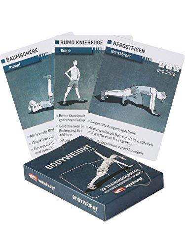 WINDHUND Trainingskarten Bodyweight pro - Übungen ohne Geräte (Oberkörper-trainingsgerät)