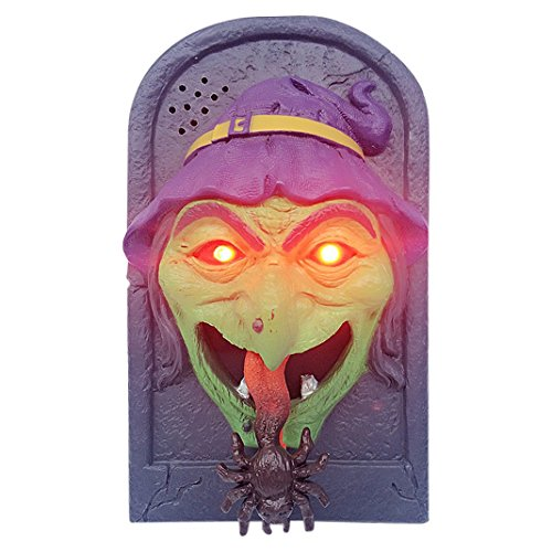 Halloween Schädel Türklingel Geist Maske Augen rote Zunge Taste alte Halloween Horror Stütze Beängstigend Prop Partei Club - Geek Halloween-make-up