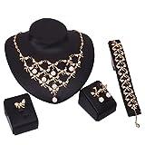 GYMAN Joyería de Dama 's Cadenas sexualidad perla páncreas Cuatro - pieza exageradas joyas accesorios vestido de banquetes, picture color