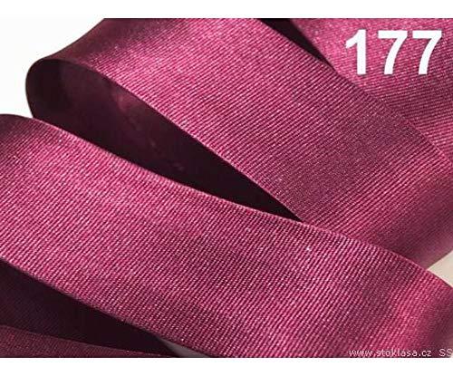 20m 177 Festival Fuchsia Satin Schrägband Breite 30mm Gefalzt Ausgemessen, Schrägbänder, Kurzwaren -