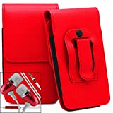 Rot / Red Acer Liquid M320 Gürteltasche Handy Holster mit