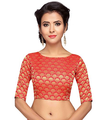 1a4b6bc1abdf7 ₹999.00. Studio Shringaar Women s Brocade   Georgette Blouse · Fressia  Fabrics Women s Stretchable Readymade Saree Blouse Crop ...
