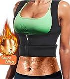 NOVECASA Suana Weste Frau Reißverschluss Taille Latex Korsett Ausbildung Taille Trainer Korsett für Bauch Kontrolle Gewichtsverlust Sport Body Shaper Schwarz (M, Weste Reißverschluss)