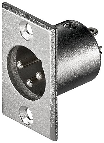 Mikrofon-Einbaustecker, 3-polig, 10 Stück