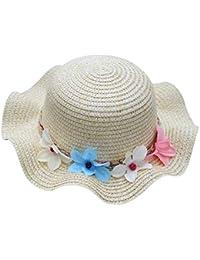 Sombrero Respirable De La Flor del Bebé del Verano AIMEE7 Sombrero del Sol  De La Paja Sombrero De Los Niños Sombreros De Las… 263e2b62294