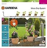 GARDENA Start Set Pflanztöpfe S, Aktion: Das Micro-Drip-System Starterset für 5 Topfpflanzen, wasserparende automatische Bewässerung (13000-32)