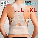 TOP & MARKE - Geradehalter zur Haltungskorrektur - Größe L bis XL - DAMEN & HERREN Rückenbandage Lendenwirbel für perfekte Haltung mit Magneten & verstellbaren Trägern