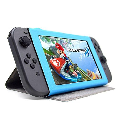 Funda protectora (2017) con funcion soporte,Nintendo Switch Case, color azul