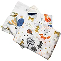 Animal Friends Set of 4 Muslin Squares