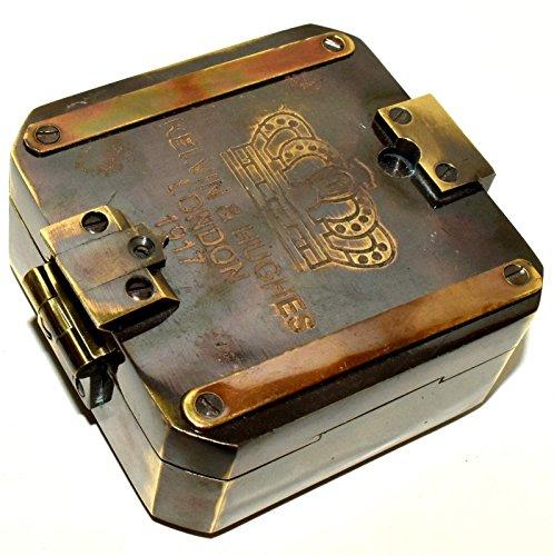 Nautical.Gift.Decor Kelvin & Hughes London 1917 Brunton Kompass, Antik-Stil, Messing -