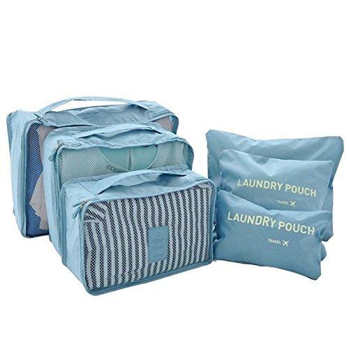 Generic Grün: ttlife Verpackung Cube Travel Cubes Bag 6Stück One Set großes Fassungsvermögen von Sports Taschen Unisex Kleidung Sortieren Organisieren Tasche
