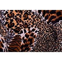 Tejido Mutón Leopardo colores - Marrón, Unica