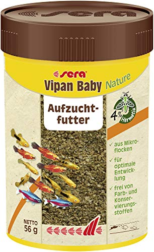 Sera 41689 vipan baby 100 ml - Mikro-Flocke für Jungtiere, Aufzuchtfutter im Aqauarium