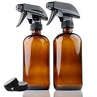 YCOO YCOO8/16OZAMBER - Botellas de Cristal de ámbar con pulverizador para aceites Esenciales, 250 ML