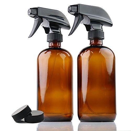 YCOO 250/500 ml bernsteinfarbene Glas-Sprühflaschen, leere, wiederverwendbare Sprühköpfe für ätherische Öle, Reinigung, 250 ml