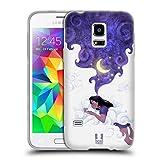 Head Case Designs Unter Dem Mondlicht Schlafen Traum Wolke Soft Gel Hülle für Samsung Galaxy S5 Mini