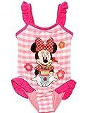 Unbekannt Badeanzug mit Rüschen -  Disney Minnie Mouse  - Größe 5 bis 6 Jahre - Gr. 122 bis 128 - für Mädchen Kinder - rosa Röckchen / Einteiler - Einteilig - Rüschch..