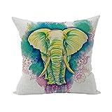 Nunubee Süße Tiere Geschenk Kissenbezug Dekoration Kissen Accessory für Haus und Auto Elefant Stil 2