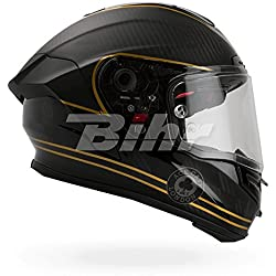 Bell 7069593 Casque de Moto Racestar Speed Check, Noir Mat/Or, L