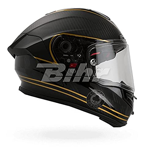 7069591 - Bell Race Star Ace Cafe Speed Check Motorcycle Helmet S Matte Black Gold