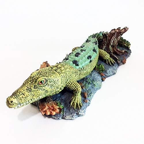 JANERICOO Luftaktion Schnappende Krokodil-Aquarium-bewegliche Bewegung, die Verzierungs-Dekoration sprudelt