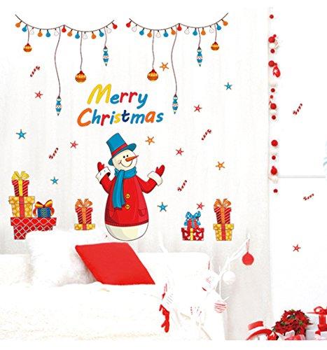 me Decor Wand Aufkleber Santa Claus Abnehmbare Room Decor Wandaufkleber Fenster klammert Sich an für Weihnachten, 114,3x 104,9cm ()