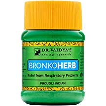 Dr. Vaidya's New Age Ayurveda | Bronkoherb | Ayurvedic Churna For Respiratory Ailments | 50 g Each (Pack of 3)