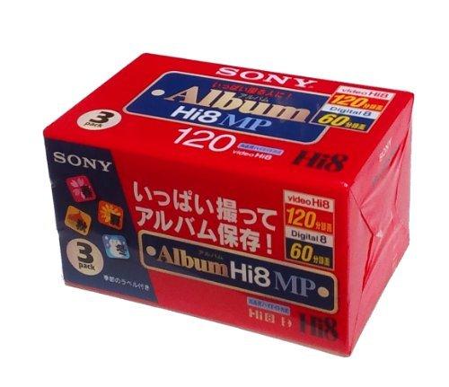 Sony - Cinta de casete (8 mm, 120 minutos, 3 unidades)