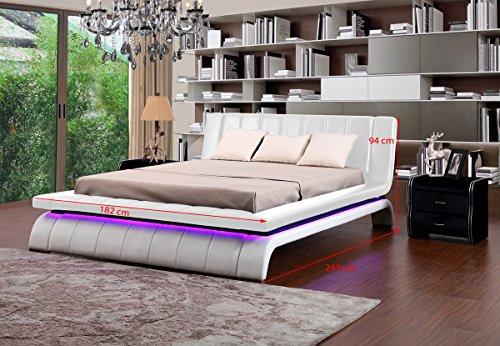 KAWOLA Luxus Bett Affair 140/160/180/200cm (140cm, weiß)
