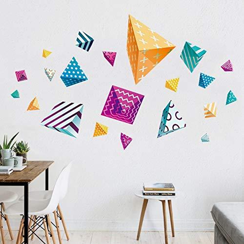 Kreatives buntes Muster-polygonale Partei-Dekorations-Firmenwohnzimmer-Sofa-Hintergrund-Klassenzimmer-entfernbare Aufkleber-Wandaufkleber