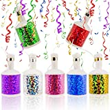 German Trendseller 12 x Party Knaller Set - Kindergeburtstag ┃ Party Shooter - Glitzer - Effekt┃ Partykracher - Bunte Luftschlangen ┃ 12 Partypopper