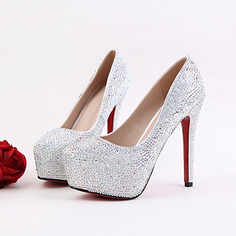 VIVIOO Prom Sandals Fashion scarpe Crystal Wedding scarpe scarpe scarpe Ultra Fine With Wedding scarpe High-Heeled scarpe Club New... | unico  c70bad