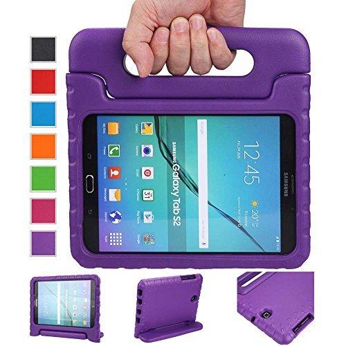 """NEWSTYLE - Custodia antiurto super protettiva per tablet, leggera, con impugnatura/piedistallo, adatta ai bambini, per Samsung Galaxy Tab S2/ S2 Nook 8"""" viola"""