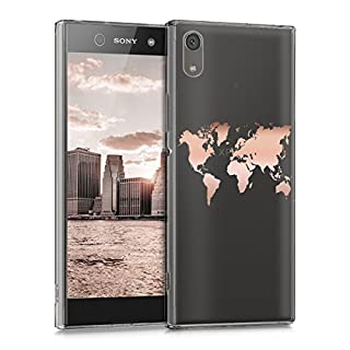 kwmobile Sony Xperia XA1 Hülle - Handyhülle für Sony Xperia XA1 - Handy Case in Rosegold Transparent
