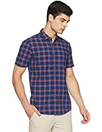 Lee Men's Checkered Slim Fit Casual Shirt
