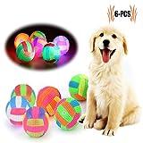 Welpen Spielzeug Hund Ball , Legendog 6Pcs Hündchen Ball Spielzeug, Bälle für hunde, Hund leuchtenden Ball mit Lärm Spielzeug für Welpen-zufällige Farbe