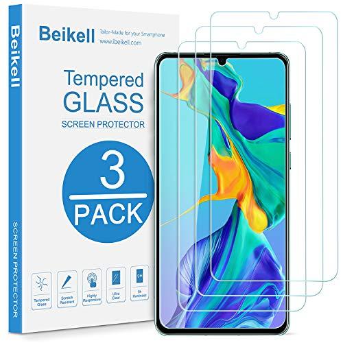 Beikell Vetro Temperato per Huawei P30, [3 Pezzi] Pellicola Protettiva Protezione Schermo per Huawei P30 - Durezza 9H, Anti graffio,...