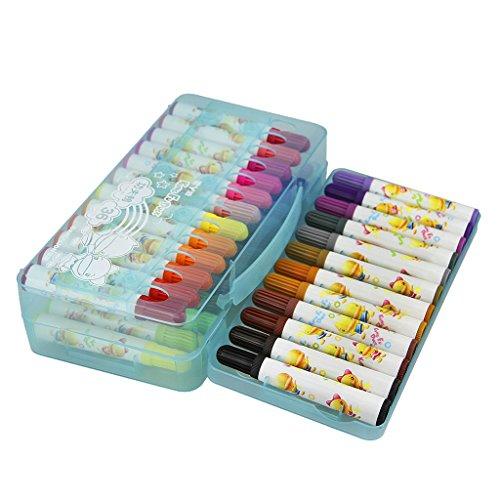 36 Stück kinder Farbstifte ungiftig Stifte handlich Aquarellstifte Künstlerstifte mit dem Koffer ideal zum Markieren und Kolorieren