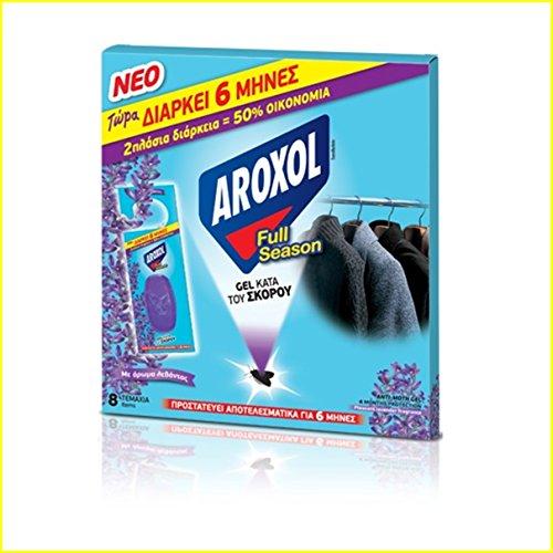 Natürliche Anti-Moth Gel Tabletten / Beutel Angenehmer Lavendelduft für Kleidung Stoff - Bis zu 6 Monate - 8 Gele Pack (Ballen Von Kleidung)