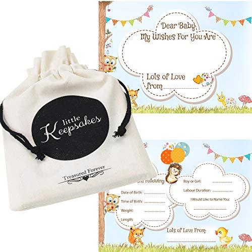 Cartes de prédictions pour Baby Shower - Conseils, souhaits, jeux - Inclus une pochette (français non garanti)
