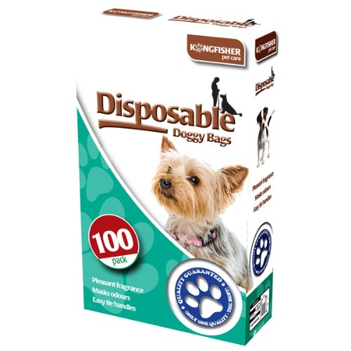 King Fisher desechables de perro caca bolsas, 100 unidades