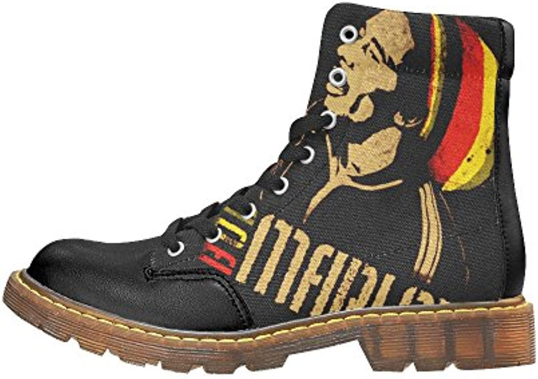 Jahbiz Botas para hombre Negro negro
