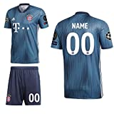 adidas FCB FC Bayern München 3rd Set Champions League 2018 2019 Herren Wunschname 00 CL Logos Gr S