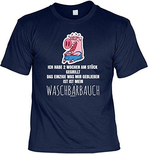 Grill Shirt Geschenkidee Grillen T-Shirt Ich habe 2 Wochen am Stück gegrillt