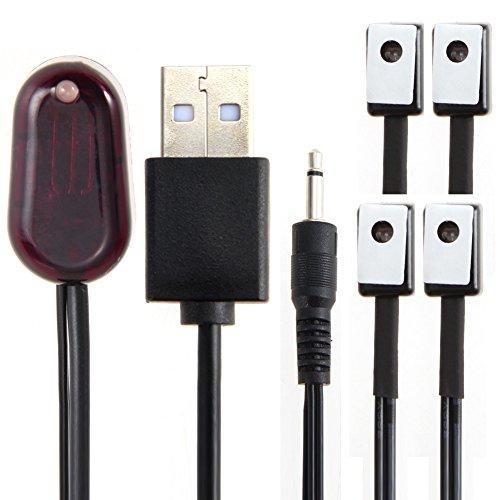 prettygood7 IR-Extender 1 Empfänger 4 Emitter Repeater Kit Infrarot Fernbedienung UK 1 Ir-emitter