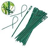 Dowoa Fascette per Piante da Giardino, levigatura di Piante Flessibili Fascette per Piante da Giardino in plastica Regolabili Fermagli per Piante Fermagli per Piante