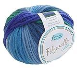Filzwolle Color Rellana Fb. 104, Filzwolle zum Stricken blau grün türkis, mit Farbverlauf